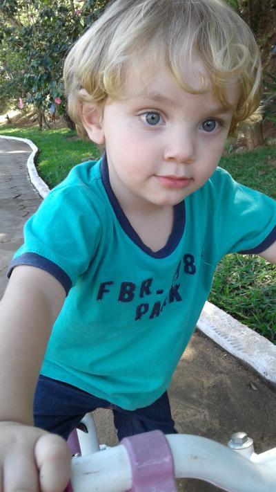 O garotão Mateus, que completou  2 aninhos no dia 21, é filho de  Magna Lima e Alam Camargos