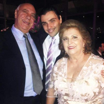 A família Saliba, Azis, Maria das Graças e Samir, um dos filhos do casal
