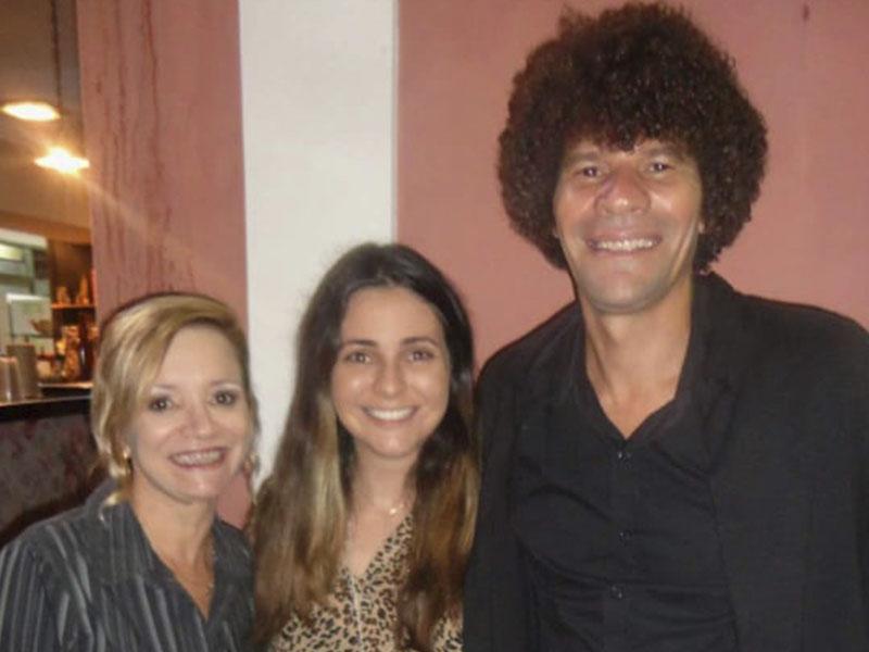 O idealizador e promoter do Cultura de Buteco Washington Damião, com  Valéria Campos e a chefe Rafisa Fonseca, que assessoram o evento