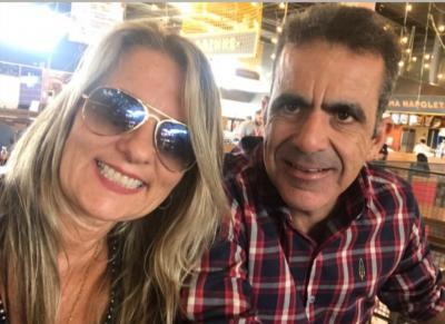 Em destaque o casal Ana Paula Freire e Daniel Morais
