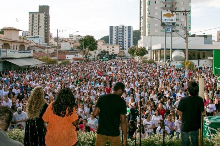 No ano passado, milhares de pessoas concentraram na Jove Soares para a Celebração Eucarística