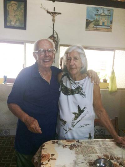 O casal Preto e Dona Maria comemorou 59 anos de um feliz casamento