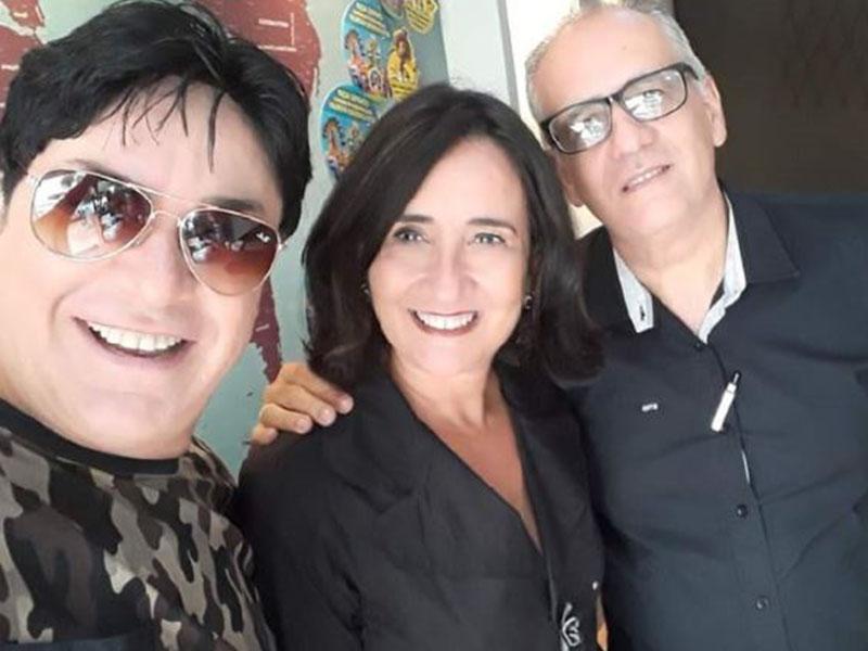 Stael Lorena e Stefano, da Agência SL Viagens. Uns amores