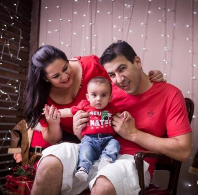 O primeiro Natal do pequeno João Gabriel, filho do casal  Júlio Monteiro e Isabel Vilaça