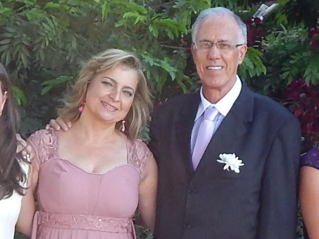 Em destaque o casal Fernando Lopes e Cláudia