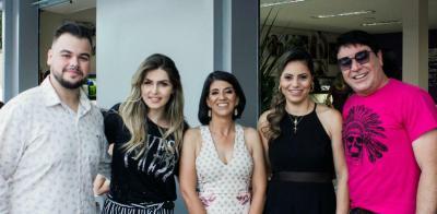 Lançameto da Toc Store. Luiz Henrique com Geise Pousa, Fabiana e Luciene. Foi um luxo!