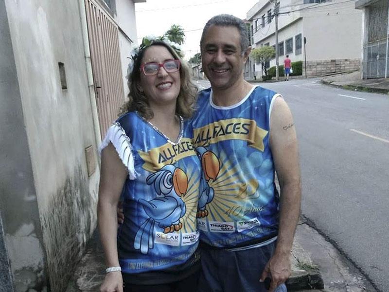 Casal chiquérrimo Willer Cesar Neto e Jacqueline do Iate Itaúna