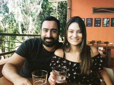 Super queridos na cidade, Lucas Fonseca e Maria Cristina. Casal nota mil!