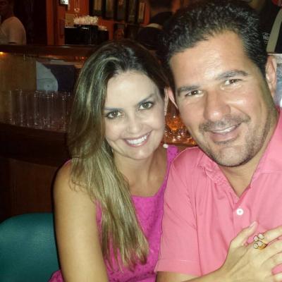 O casal nota mil Cristina e Márcio Carvalho