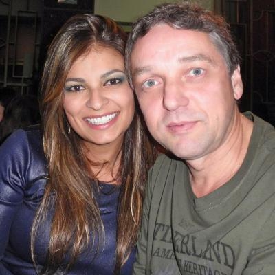 O casal Cynthia Bebiano e Luiz Mauricio Gonçalves