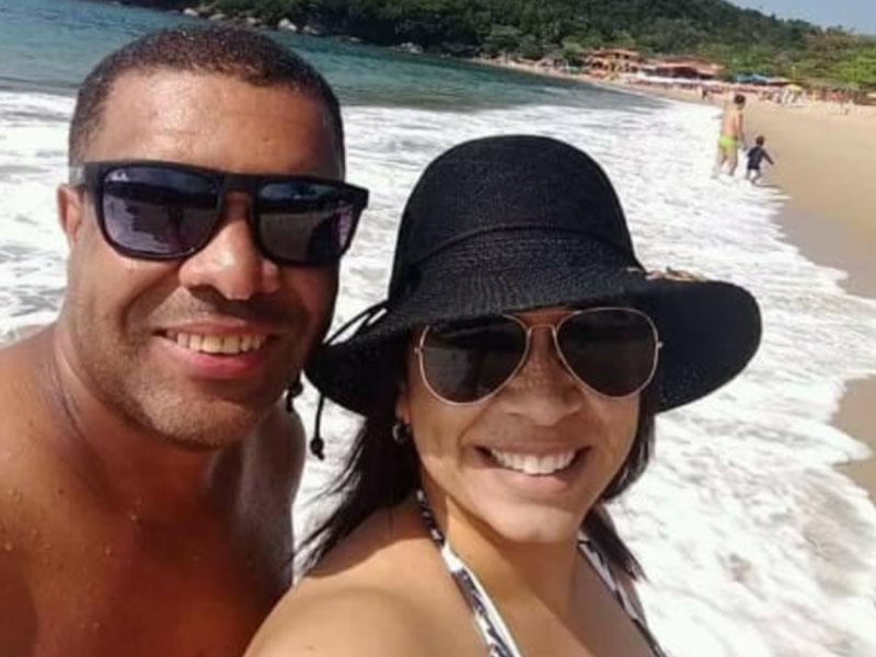 A secretária da Rádio Alternativa, Marcilene Lopes, e seu marido,  Adelson Nogueira, da Sideral, curtindo férias em Paraty