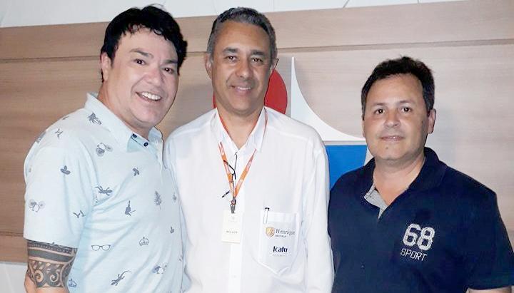 Presidente do Iate Itaúna, Willer César Neto e o vice Armando Marques, da Chapa 2