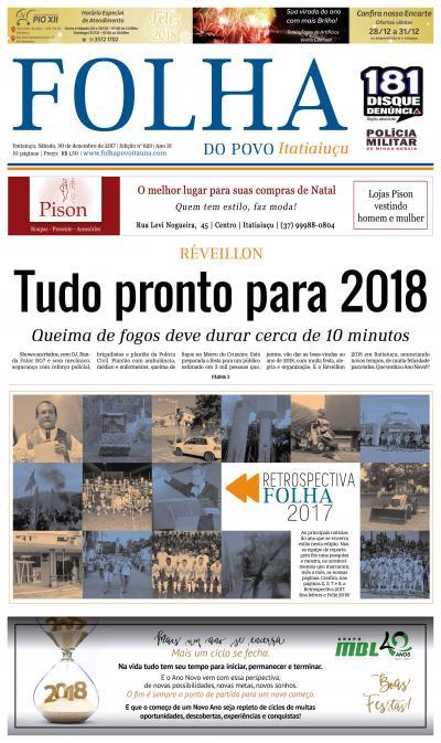 Edição 623 30/12/2017 - Itatiaiuçu