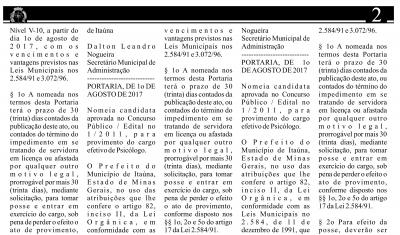 As nomeações foram publicadas na edição 1.296, do Jornal Oficial do Município