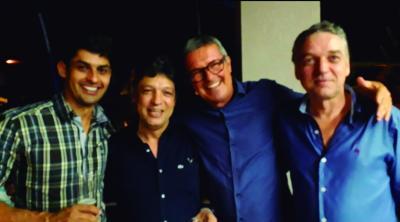 Os amigos Edigarzinho, Rodrigo, Manel da Zinha e Luiz Maurício