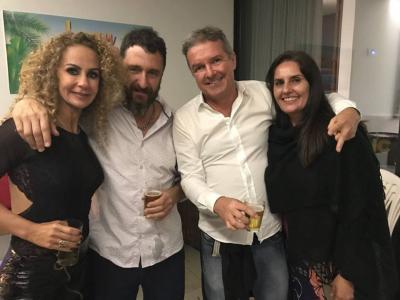 Os irmãos Renata e Rodrigo Guimarães e o casal maravilhoso,  Manoel da Zinha e Rosilane destaques da nossa coluna
