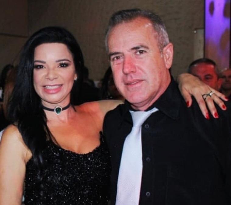 Casal chiquérrimo, professor Nando e sua maravilhosa esposa Valéria Guimarães