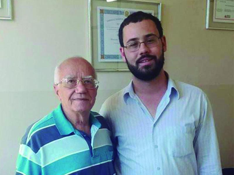 Presidente eleito da mesa diretora da Câmara Alexandre Campos  e o político itaunense Nelson Ferreira