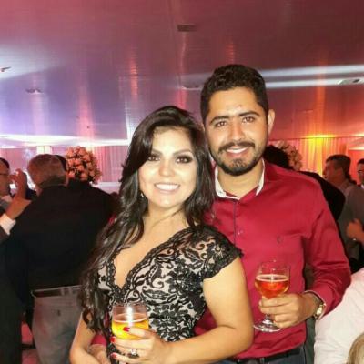 O casal  Bárbara Alves e Laion Henrique