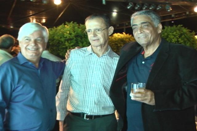 Os conhecidos empresários Paulo César Gonçalves Guimarães, Igor Dornas Andrade e Júlio César Amaral, no lançamento do Boulevard Lago Sul