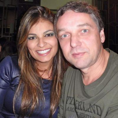 O casal Luis Mauricio e Cíntia Bebiano