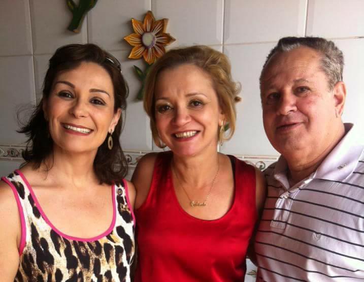 Luciene, Valéria e Ângelo Freitas. Uns amores.  Admiro o trabalho social que fazem no Rotary
